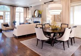 Small Dining Room Decor Ideas - narrow dining table on alluring living room and dining room sets