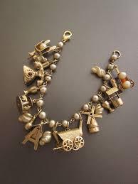 charm bracelet gold vintage images Vintage gold charm bracelet 6428146 wild thyme info jpg
