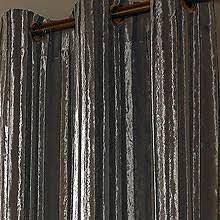 At Home Curtains Kylie Minogue At Home Iliana Silver In Ready Made Curtains Metal