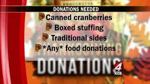 firm holding thanksgiving food drive kob 4