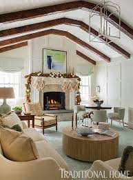 happy holidays in a cheerful new england home traditional home