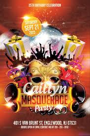 masquerade birthday party flyer template by mikkool graphicriver