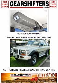 land cruiser pickup accessories outback accessories roof consoles 4x4 toyota landcruiser 80 series
