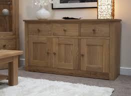 3 Door Sideboard Torino Solid Oak Large 3 Door Sideboard Oak Furniture Uk