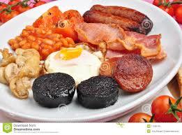 iers de cuisine iers ontbijt op een grote plaat stock afbeelding afbeelding