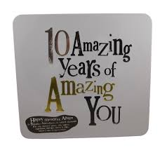 10 year anniversary gifts bright side 10 amazing years 10th anniversary gift tin 10