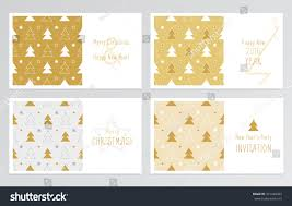 Decoration With Christmas Cards four beautiful elegant handwritten christmas cards stock vector