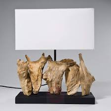 table lamp nature vertical with driftwood base lights co uk