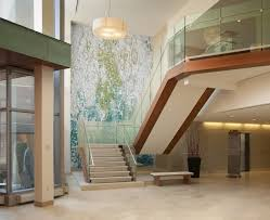 Shoreline Pacific Lobby Wall Water Splash Mosaic Design Artaic - Wall mosaic designs