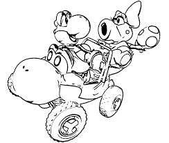 koopa coloring pages go kart coloring pages coloring home
