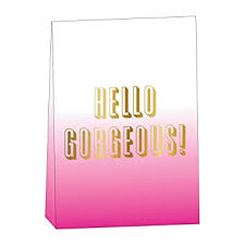 hello gift bags slant collections hello gorgeous floral gift bags