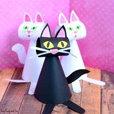 paper cat craft template easy peasy and fun