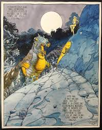 original cover art page by the french artist moebius 1938 2012