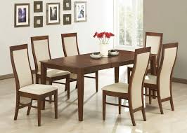 bedroom round dining table and fabric chair for dining room