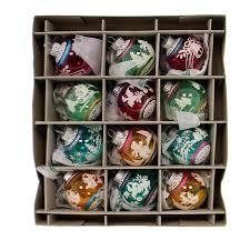 christopher radko vc signature flocked ornaments boxed glass