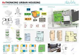 Concept Design Architecture House Rethinking urban housing  desing