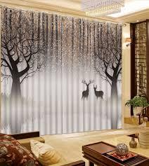 white bedroom curtains filder lavender gradient panel set