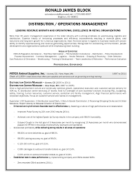 Operations Management Resume Distribution Manager Resume Objective Original Content
