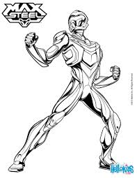 max steel is ready to jump into action coloring pages hellokids com