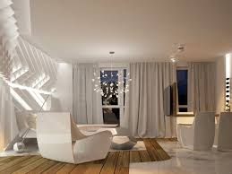 modern white nuance futuristic interior design ideas that can be