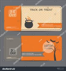 halloween party invitation background halloween gift voucher certificate coupon invitation stock vector