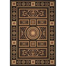Home Dynamix Area Rug Home Dynamix Empire Black 9 Ft 2 In X 12 Ft 5 In Indoor Area