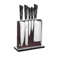 set couteau de cuisine bloc en bois de 5 couteaux de cuisine luxe
