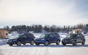 subaru winter winter playtime with three all purpose subarus the car guide