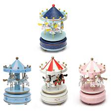musical carousel horse wooden carousel music box toy child baby
