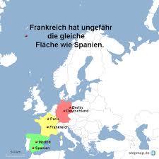 fl che deutschland frankreich hat ungefähr die gleiche fläche wie spanien