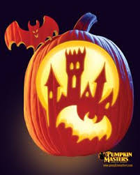 Free Scary Halloween Pumpkin Stencils - haunted house pumpkin carving patterns free top 5 halloween
