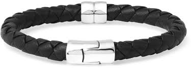 bracelet silver leather images Bottega veneta intrecciato leather and silver bracelet where to jpg