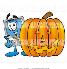 halloween computer royalty free technology stock halloween designs