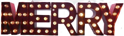 large lighted metal merry marquee sign 50 leds