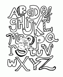 alphabet coloring pages for kids abc letters printables free