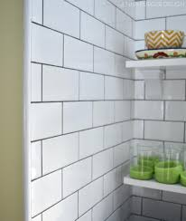 railroad tile backsplash subway tile kitchen installation burger