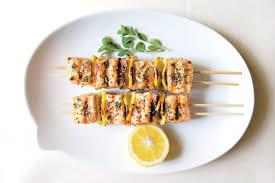 spiced salmon kebabs recipe epicurious com