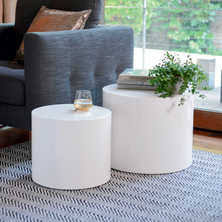 White Gloss Side Table Side Tables Contemporary Lounge Furniture From Dwell