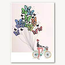 Butterfly Balloons Bicycle With Butterfly Balloons U2013 Verrier Handcrafted