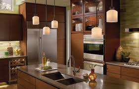 Kitchen With Brown Cabinets Kitchen Modern Pendant Lighting For Home Decor Inspiration
