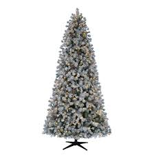 White Christmas Tree With Black Decorations 9 Ft Pre Lit Led Natural California Cedar Artificial Christmas
