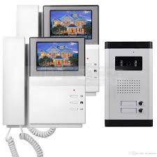 front door video camera 4 3 apartment video door phone video intercom doorbell system 700