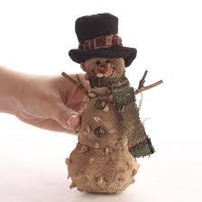 primitive plush snowman ornament ornaments