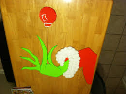 the grinch my door decoration this year christmas pinterest