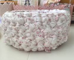 shabby chic crochet rag basket tutorial youtube