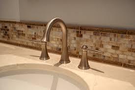 Vanity Backsplash Ideas - bathroom glass backsplash ideas city gate beach road