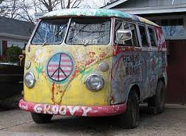 volkswagen van hippie groovy classic vw shorty bus shag carpet classic hippie flower