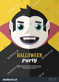 halloween background images for flyers with kids halloween party flyer poster vector template stock vector