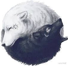 wolf yin yang stickers by wolf redbubble