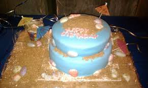 beach birthday cake cakecentral com
